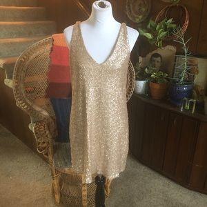 Zara Gold Sparkle Dress